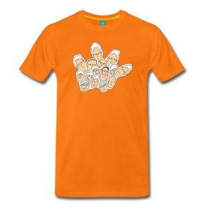 T-shirt met een leuke illustratie van publiek